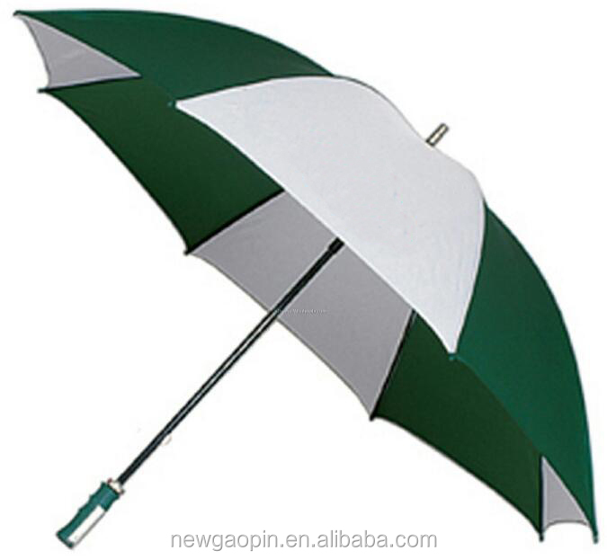 Auto open metal frame foam Eva handle blue color polyester promo golf umbrella