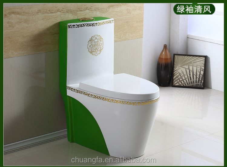 Custom made multicolor sanitary ware green color toilets
