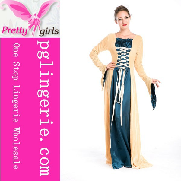 Wholesale fantasy night party costumes old fashioned costumes women evening dress M4737