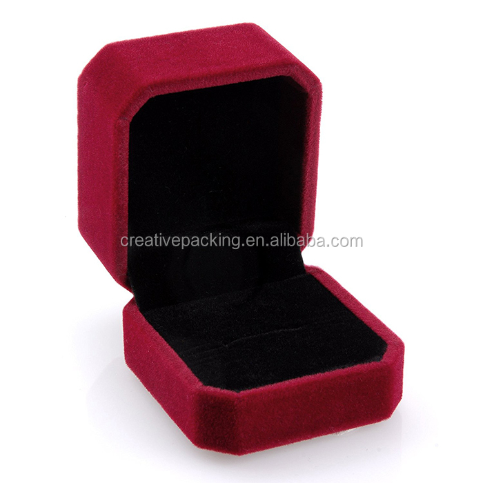 Luxury Red Wedding Velvet Ring Box