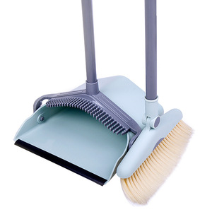 Dust Pan and Broom/Dustpan Cleans Broom Combo with Long Handle