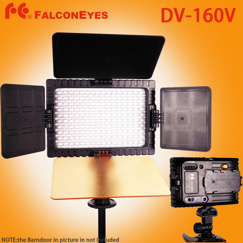 FALCON EYES DV-160V Высокая CRI95 160 светодиодные лампы видео на камеру для Canon Nikon Sony Panasonic DV видеокамеры Камеры DSLR DV 160В