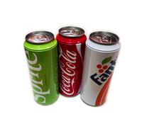 Hot sale coke shape gift tin can for socks packaging box