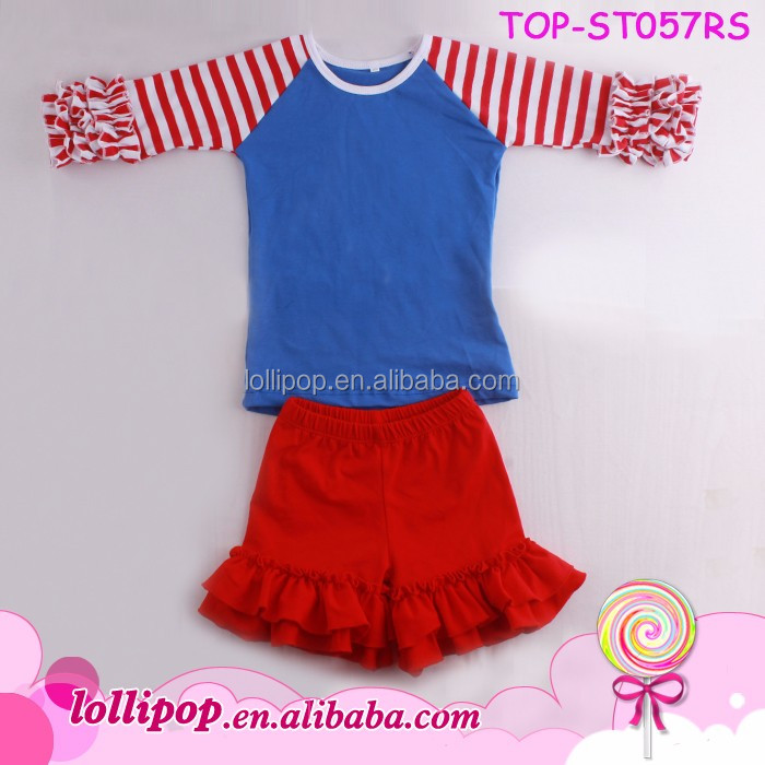 97eb0142c1df Wholesale Kids Summer Ruffle Raglan Sets Children Giggle Moon Remake ...