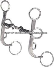 TWISTED WIRE ARGENTINE SNAFFLE BIT WITH DOGBONE