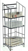 wire folding magazine display rack / newspaper stand HXS-1440