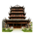 China Ming Qing style Chinese traditional classical building