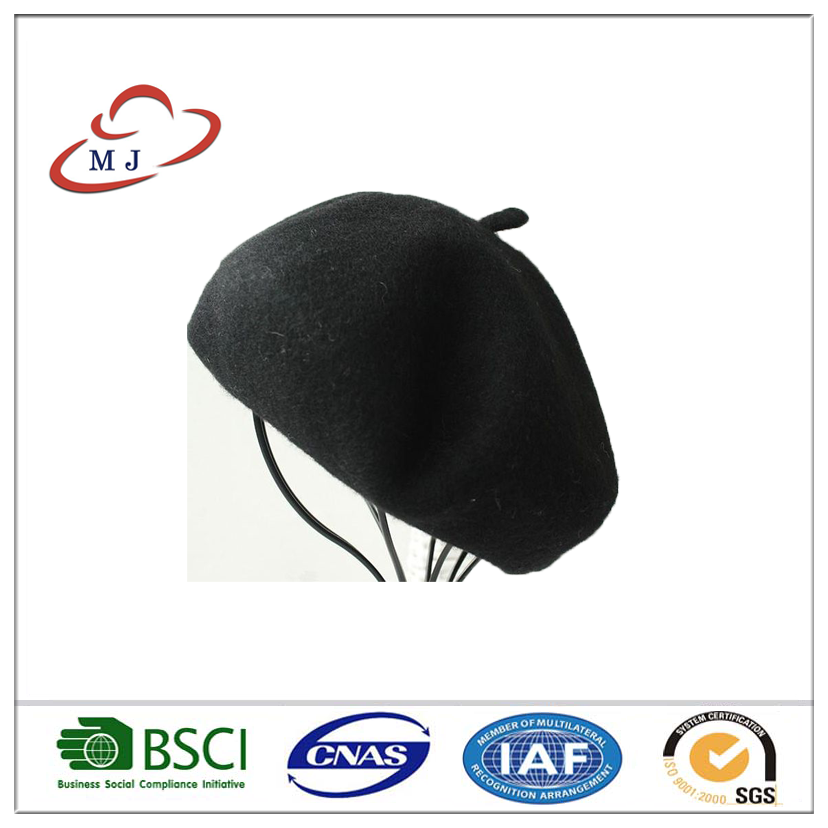 574e82b53b202 Custom Embroidered French Polyester Knitted Fabirc Paper Beret ...