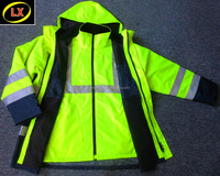 Hi Vis High Visibility 3-IN-1 Winter Waterproof Reflective Safety Jacket