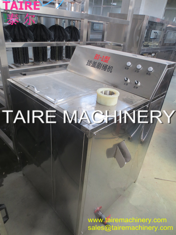 Taire Semi-auto 5 gallon barrel decapping/5 gallon inside & outside brushing machine
