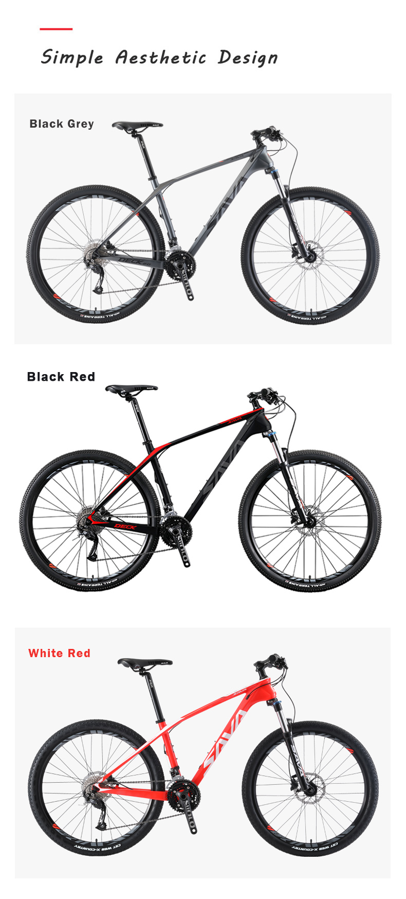 SAVA carbon bike 29 inch CE Certificate 27 speeds bicicletas mountain bike 29 carbon fiber bike