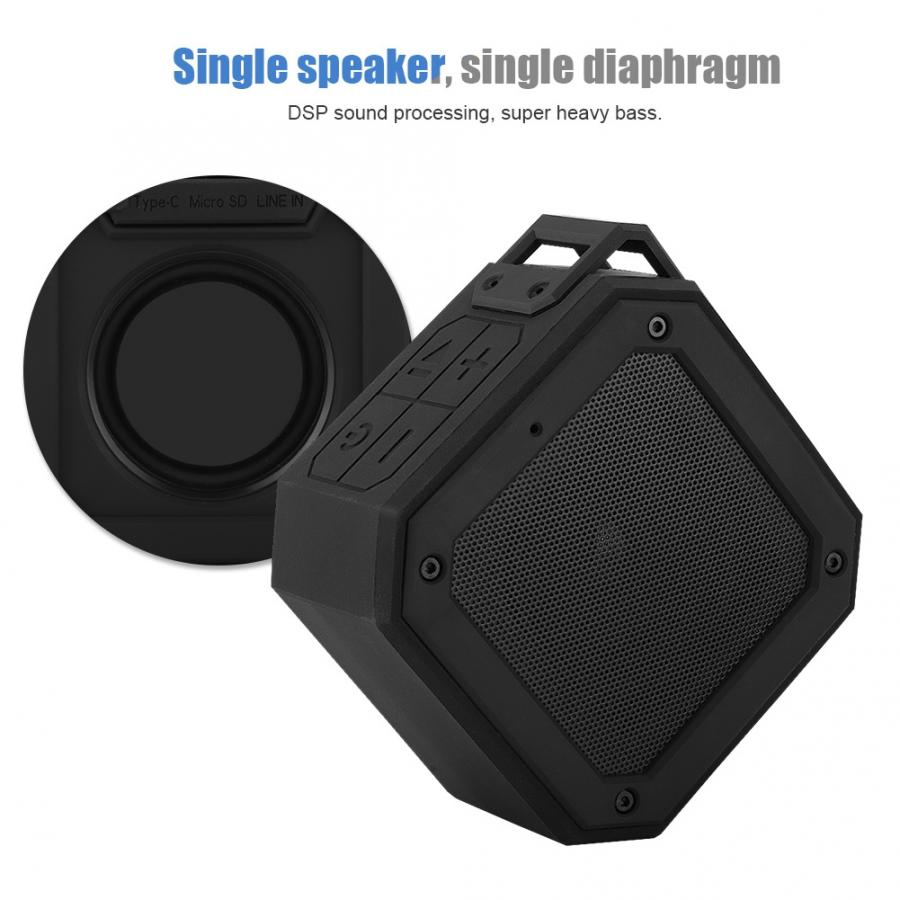 Silicone Fabric Bluetooth Waterproof IPX7 Speaker Outdoor Bluetooth Speaker