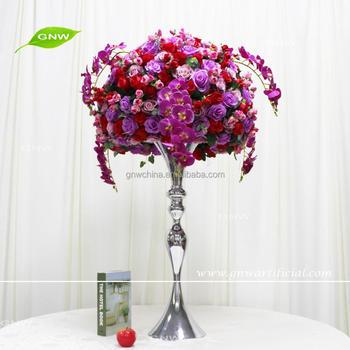 Gnw Ctra-1705014-a Hot Red Purple Artificial Silk Flower Balls ...