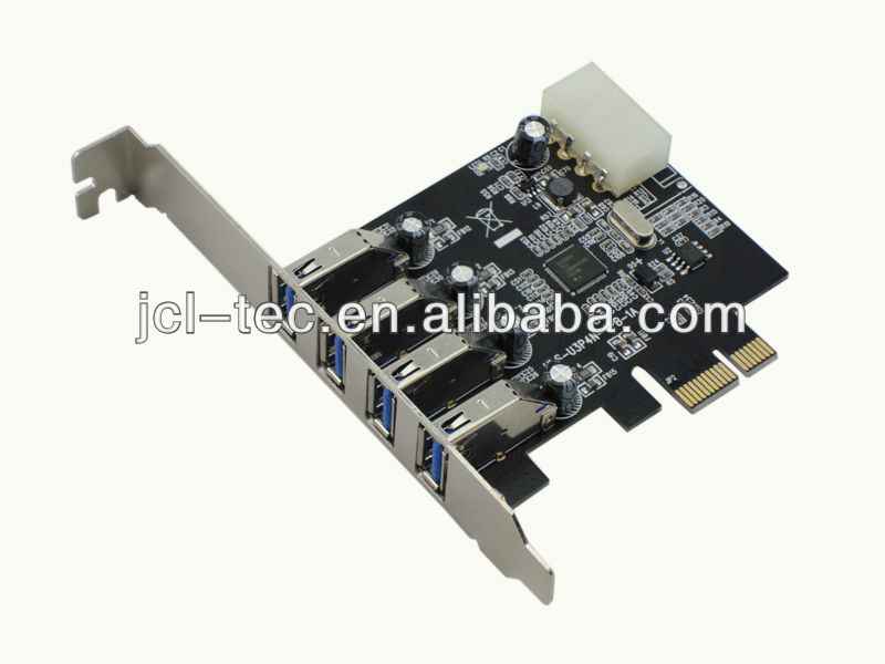 2013 Newest Superspeed 4 Port USB 3.0 Pci Express PCI-E with IDE Controller Card for Desktop