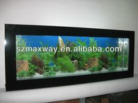 Fish Shaped Acrylic Mini Fish Tank Home And Office Use.
