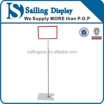 Plastic Frame Pop Display Holder/pole Sign Holder/ Floor Type P.o.p ...