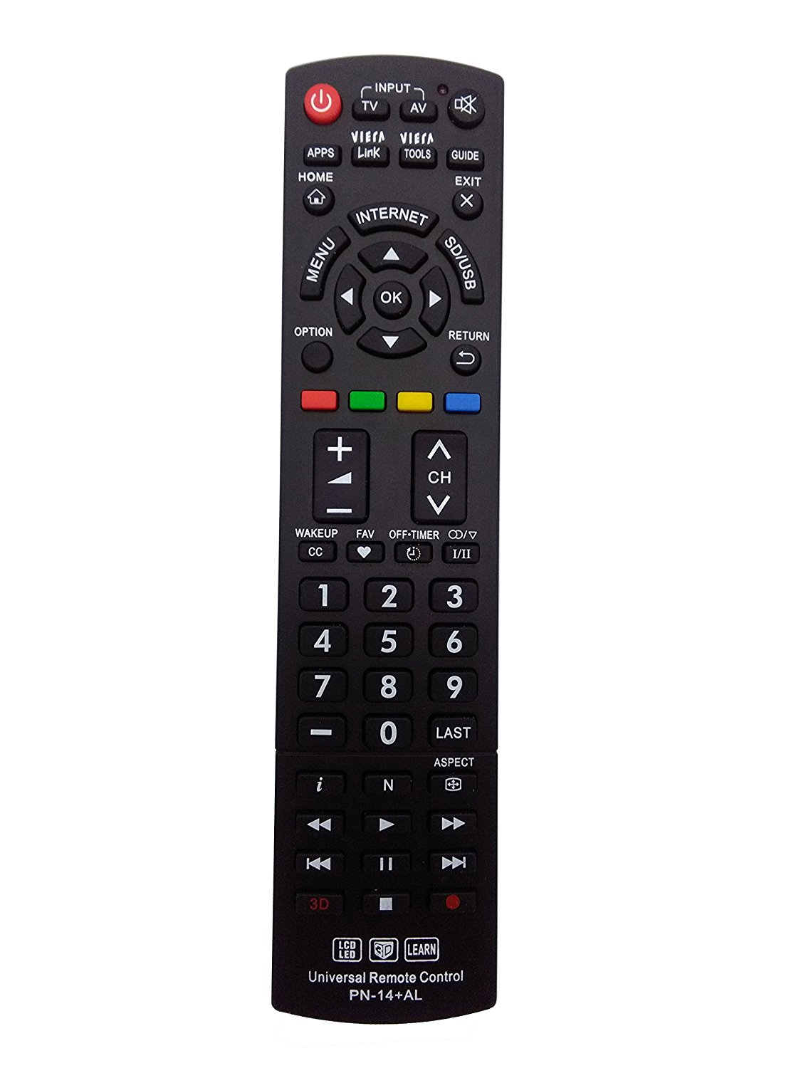 New VINABTY Replaced Remote fit for PANASONIC N2QAYB000486 N2QAYB000321 N2QAYB000485 N2QAYB000837 N2QAYB000926 N2QAYB000221 and other 3D LCD LED HDTV TV