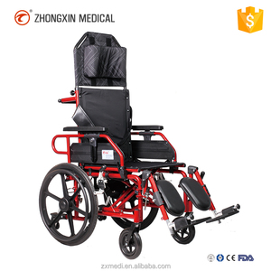 6 inch small wheel tilt high back wheelchair