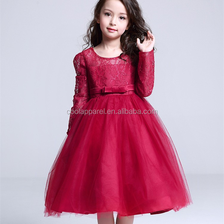 Child Girls Red Formal Dress Kids Dress For Performance Buy Kids