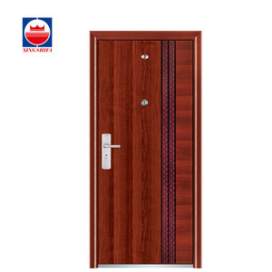 XSF6002 Cheap Simple Style Exterior Safety Metal Entrance Steel Door Design