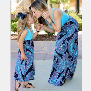 Mom and child dresses 2017 family matching clothes mommy and me clothes outfits mother daughter dress