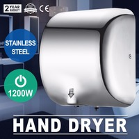 High Speed Hand Dryer1200 Watt Stainless Steel Automatic Dryer Fast Drying