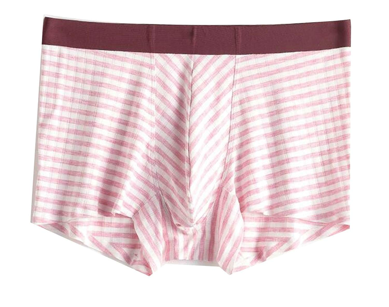 XiaoTianXin-men clothes XTX Mens Cozy Breathable Super Classic Fit Soft Modal Striped Boxer Briefs
