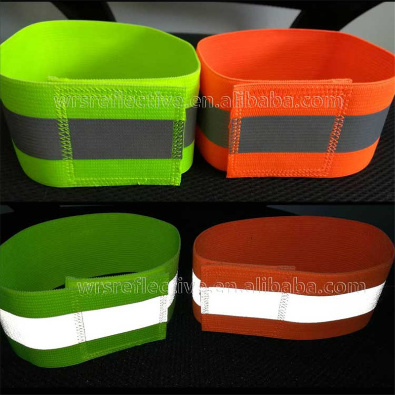 Colored Safety Reflective Armband Snap Wrap Arm Band