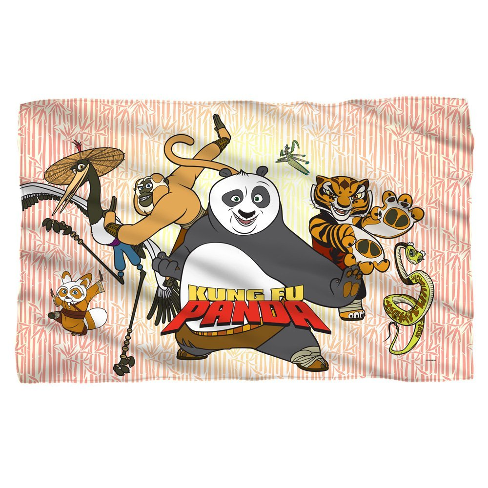 KUNG FU PANDA/KUNG FU GROUP - POLY 36X60 BLANKET - White - ONE SIZE by Trevco