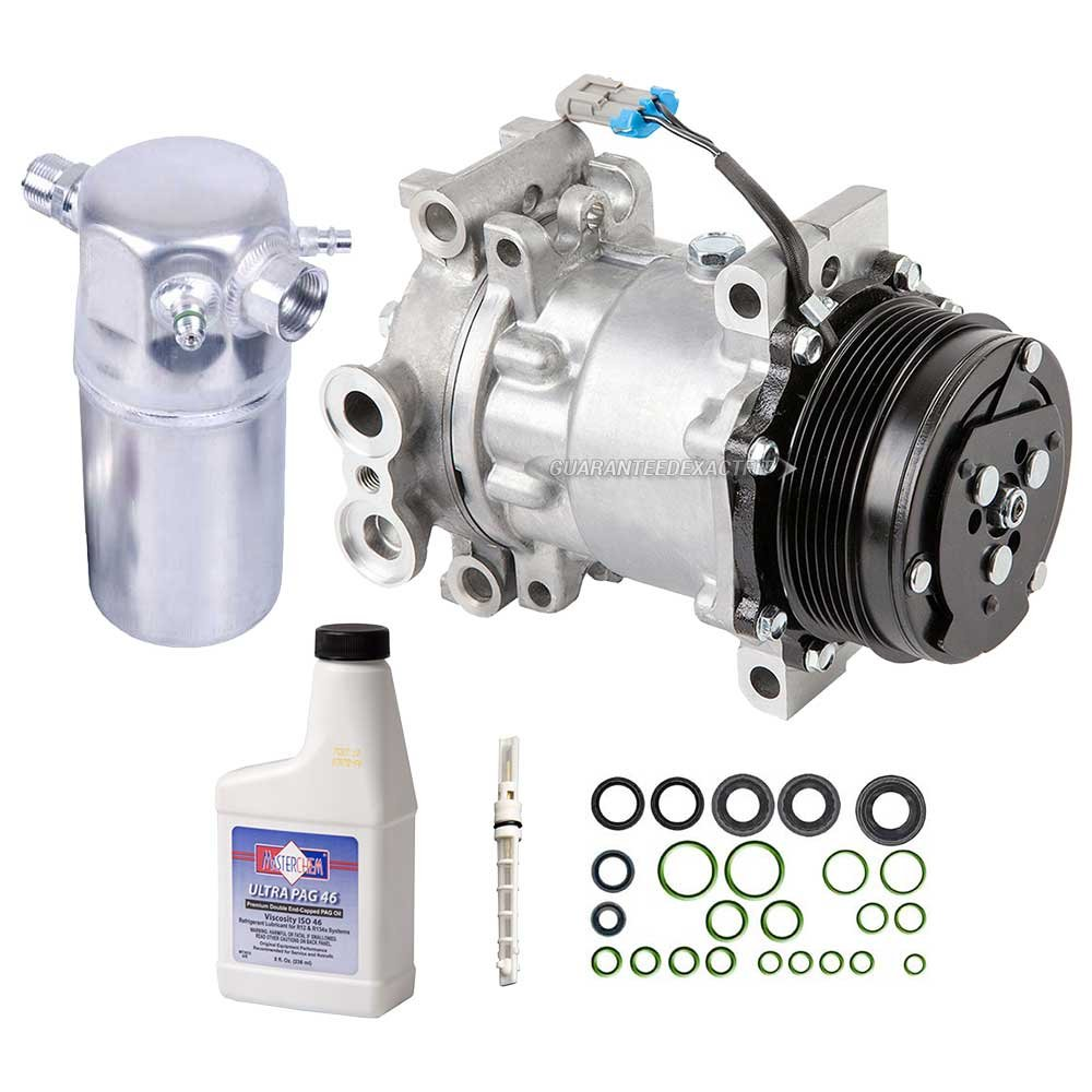 New AC Compressor & Clutch With Complete A/C Repair Kit For Chevy GMC Isuzu 4.3L - BuyAutoParts 60-80140RK New