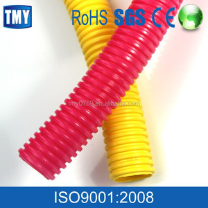 Black Yellow Plastic PE PVC HDPE Corrugated Pipe