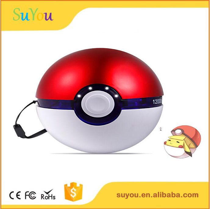 Pokemon GO Power Bank 10000mAh External Battery Charger, Ultra Compact Portable Battery Pack For iPhone