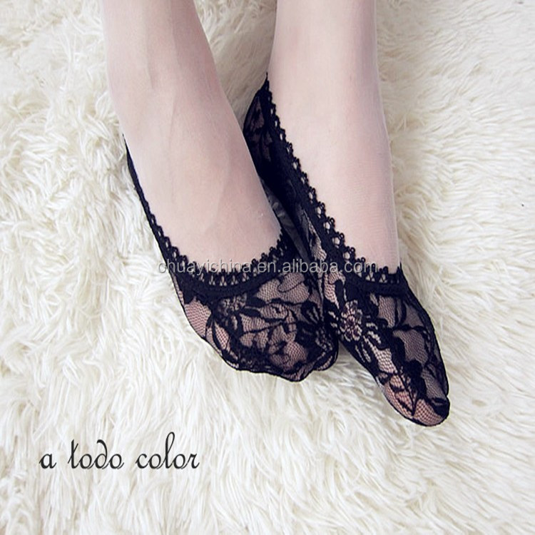 Lady Low Cut wholesale Invisible Lace boat Socks