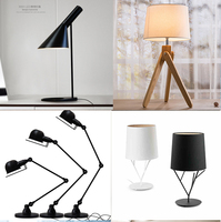 Modern Led Table Lamp Long Arms Office Desk Lamps,Easy Style Wood Led Light Table For Study