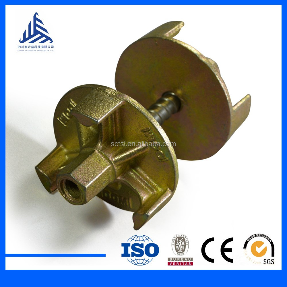 16mm 17 mm formwork tie rod wing nut construction equipments
