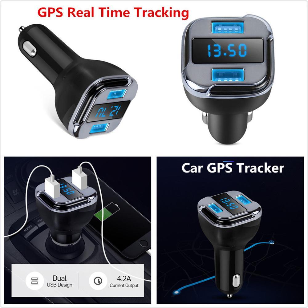 GPS Dispositivo de rastreo en tiempo real  Cargador de Carro dual USB
