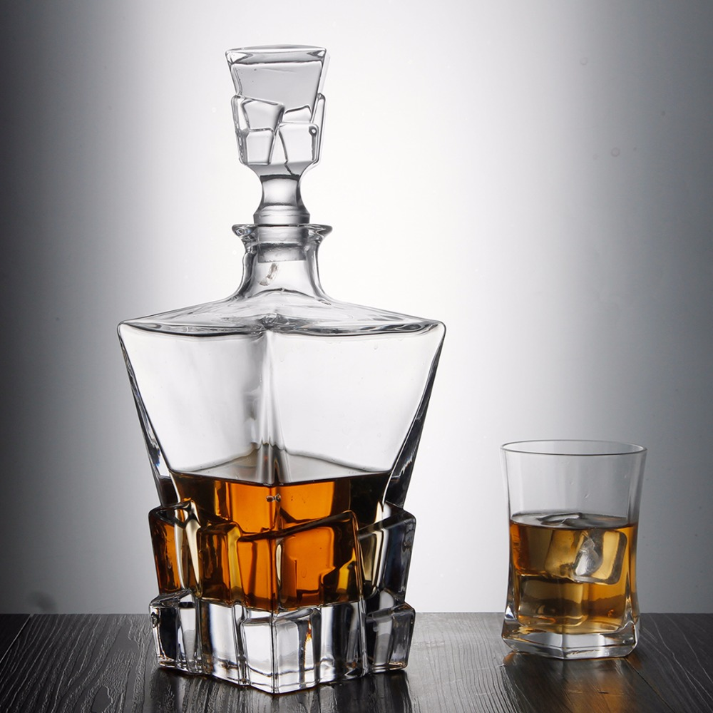Sanzo 870 ml China Fabrikant Soda-lime glas whiskey decanter set