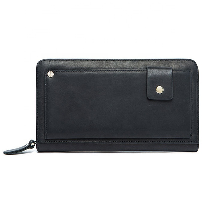 Best seller Leisure and fashion Man's cowhide <strong>leather</strong> <strong>clutch</strong> with Multi-card vintage wallet
