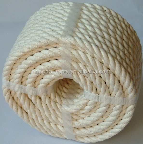 eco-friendly and natural fiber twisted decking cotton rope for home decoration
