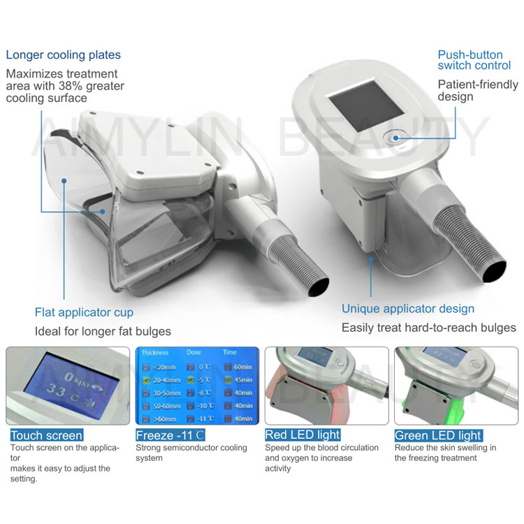 7 handpeices cryolipolysis treatment fat freezing double chin
