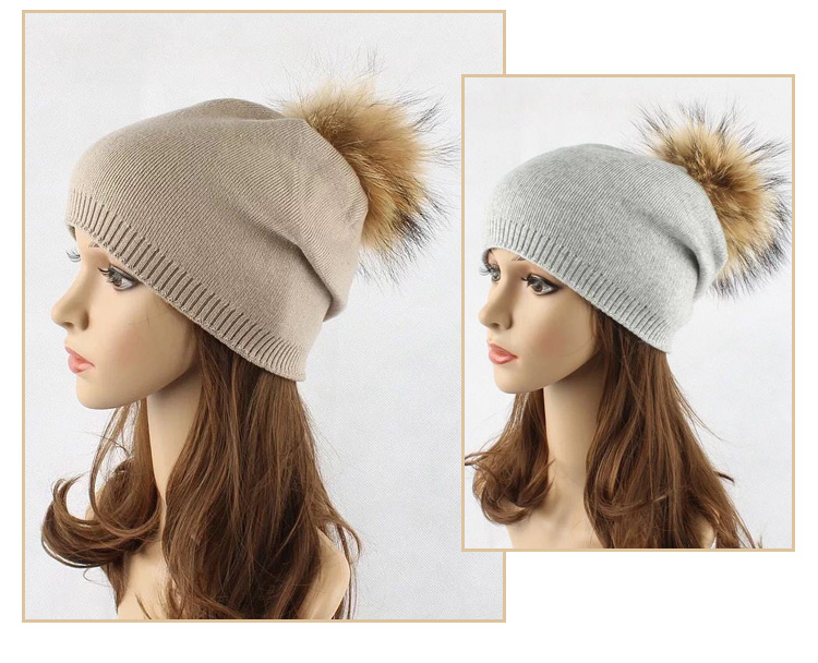 Spring custom women ladies knitted oem beanie hats with top ball