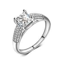 Big Stone Designs Princess Cut Diamond Engagement Gemstone Ring