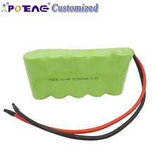 Paypal acceptable sc 3000mah 6 volt rechargeable ni-mh battery pack