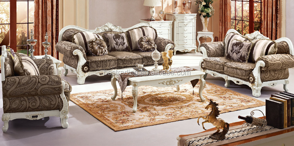 Nice European Style Classic Luxury French Sofa Set,solid Wood Sofa