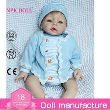c529ec0060ce9 22 pulgadas silicona reborn bebé muñeca de moda azul hechos a mano recién  nacido lifelike vinilo