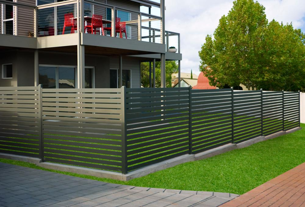 Aluminum Slat Privacy Fence Decorative Pool Swimming Safety Fences Galnavized Steel Horizontal Panel Manufacture For