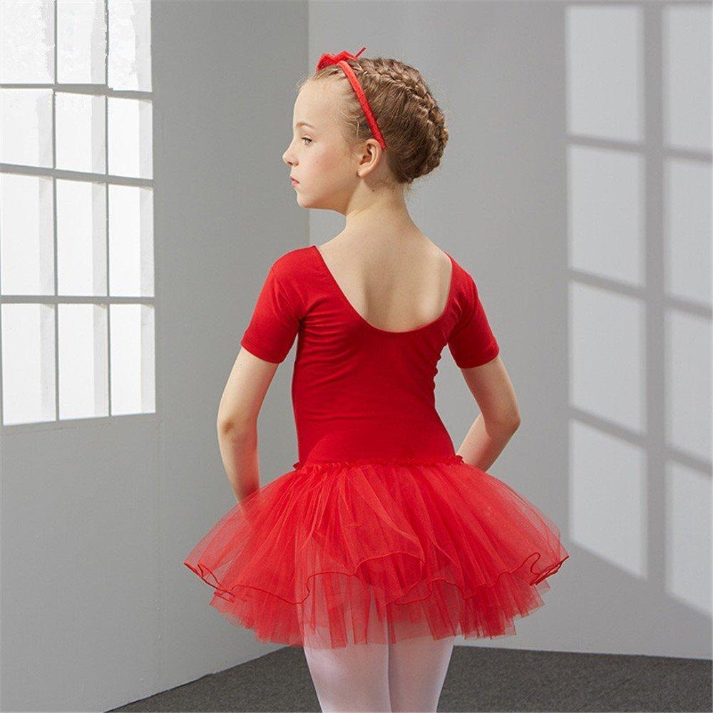 SJMMWD dance clothing Children Dance Costumes Children's dancers and dances for children, dancing, dancing, practicing and practicing children's Ballet skirts,gules,130cm
