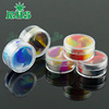 Colorful silicone insert healthy wax clear jar with lid silicone jars dab wax container small plastic container