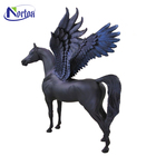 Metal copper antique winged brass horse statue NTBA-410Y