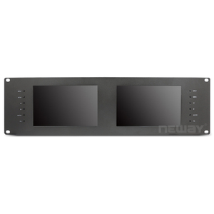 7 Inch HDMI 3G SDI IPS Screen Dual Rack Mount Monitor Professional Director Monitor for shooting